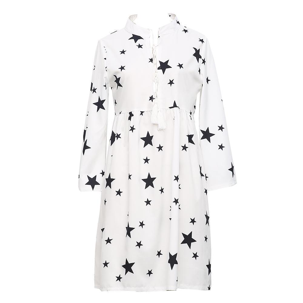 Star Printed Cover-up Dress 4
