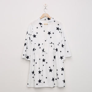 Star Printed Cover-up Dress 2