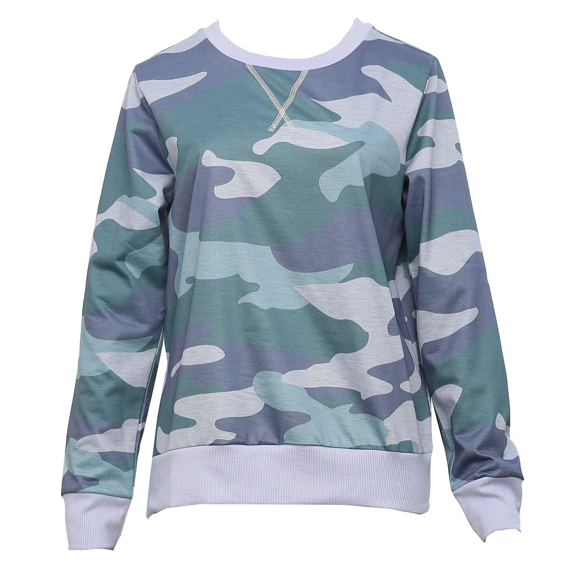 Cute on the Couch Camo Sweatshirt 4