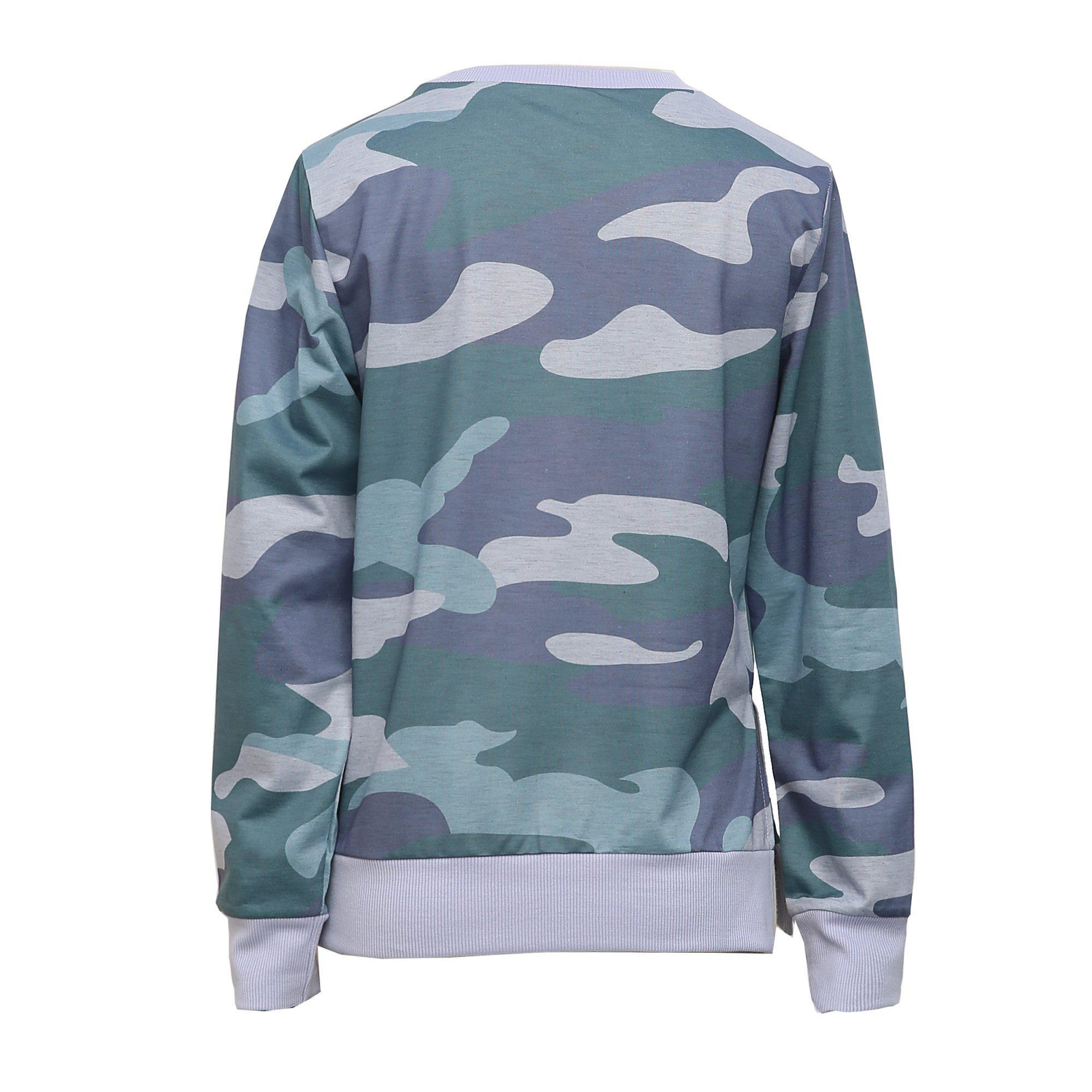 Cute on the Couch Camo Sweatshirt 5