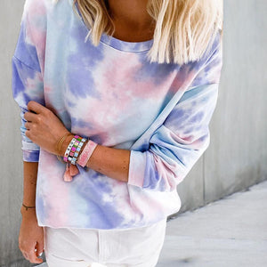 Thin Tie-Dye Long Sleeve Top 0