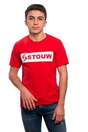 T-shirt rouge à bande - Stouw