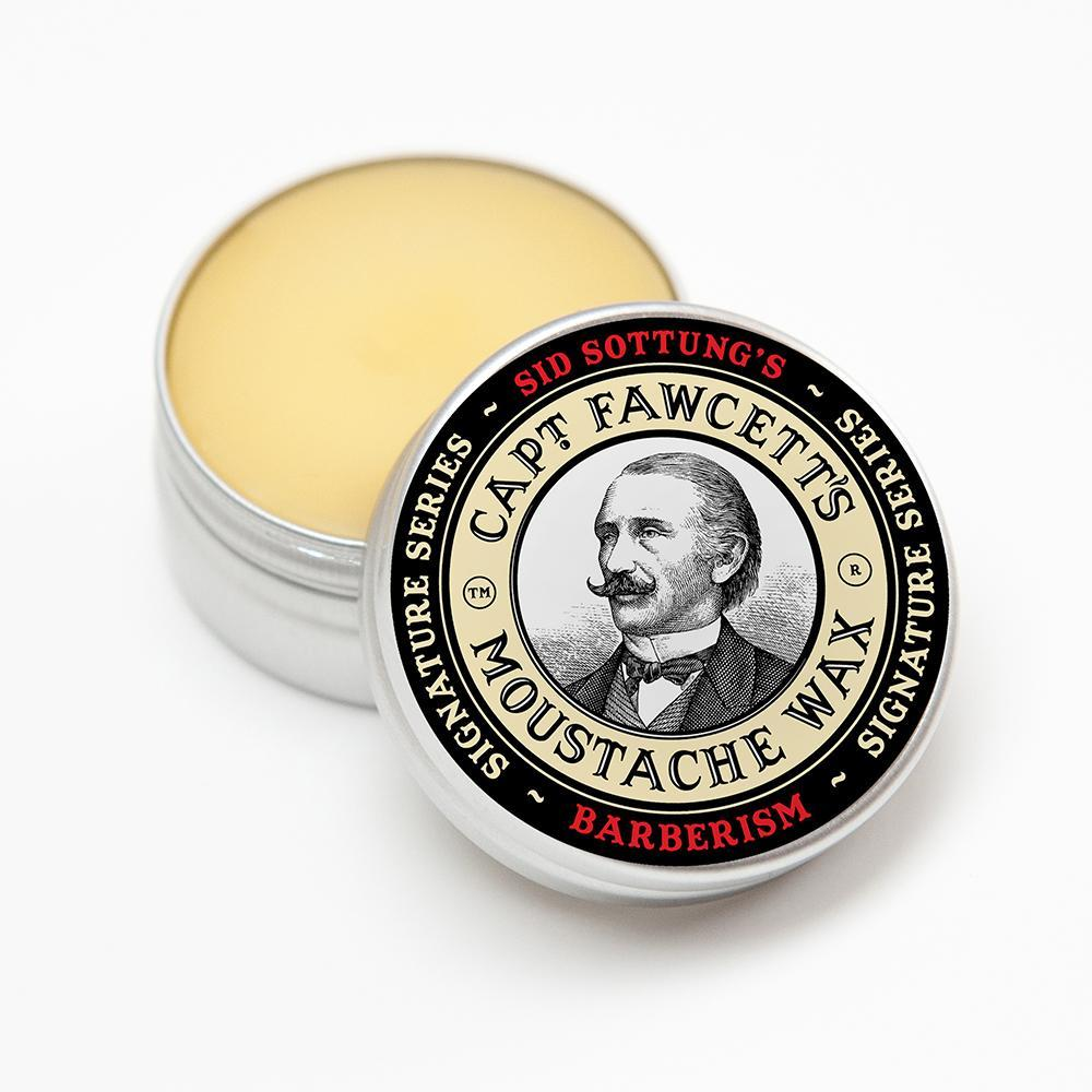 Captain Fawcett Moustache Wax Sid Sottung's Barberism