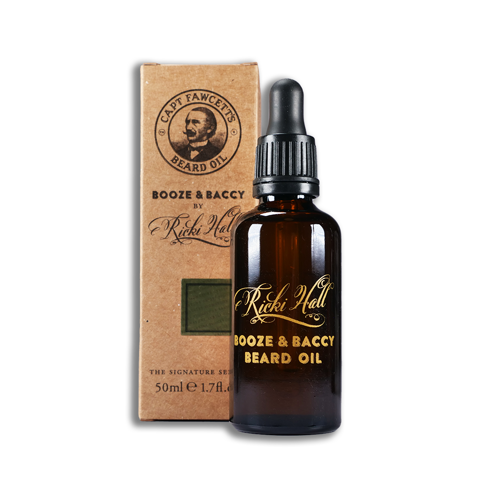Captain Fawcett Beard Oil Rick Hall Booze Baccy