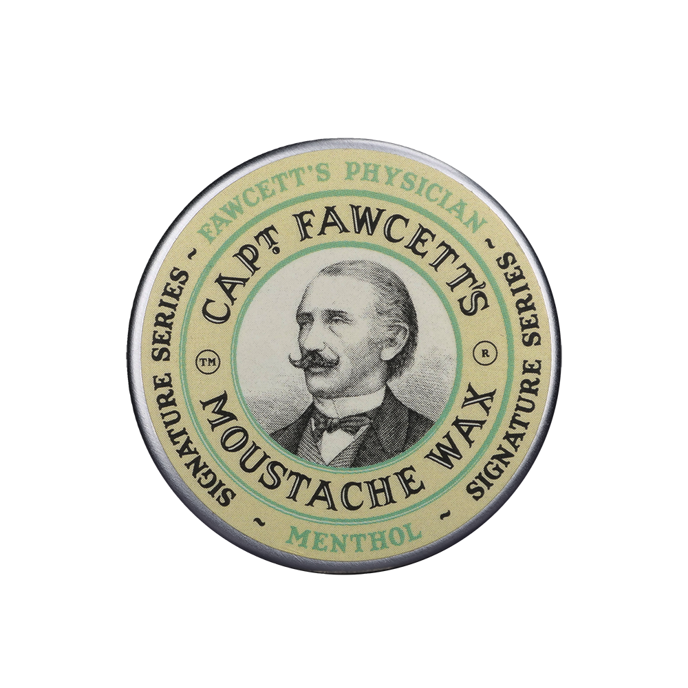 Captain Fawcett Moustache Wax Physician Menthol