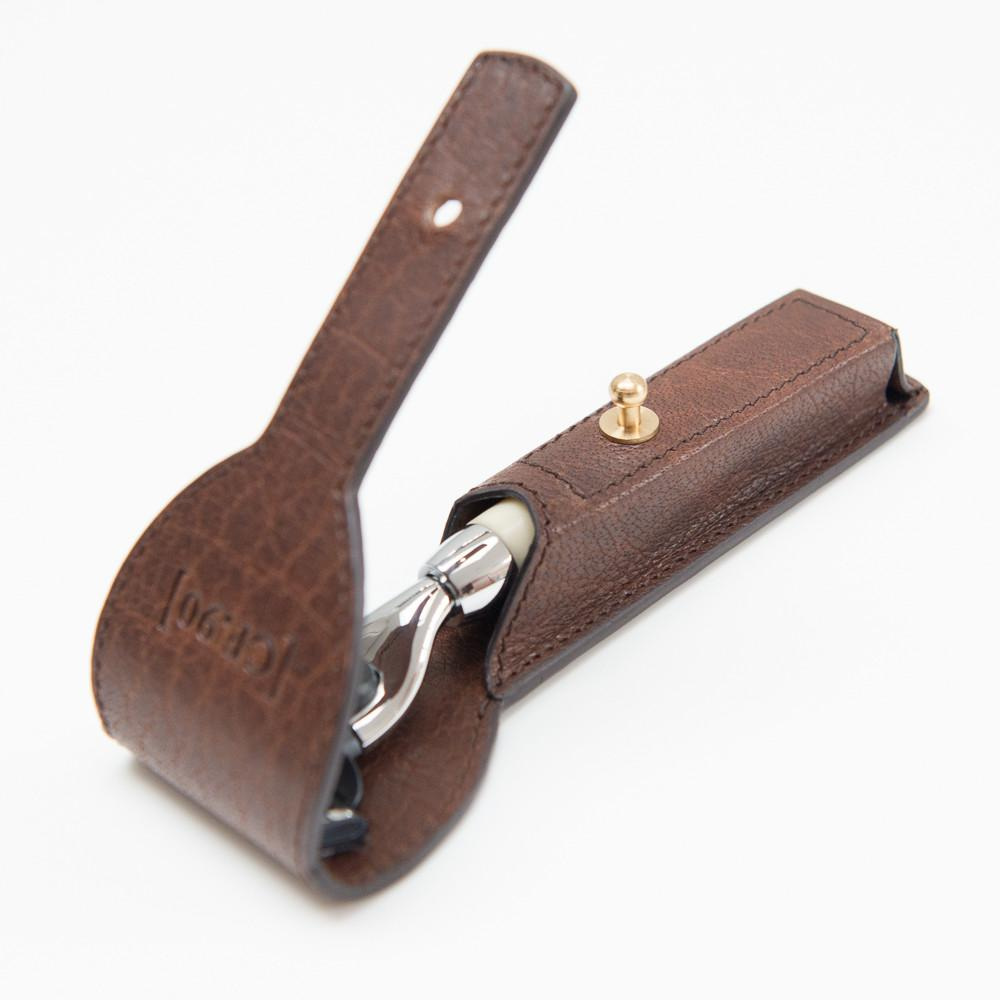 Captain Fawcett Mach 3 Razor with Handcrafted Leather Case