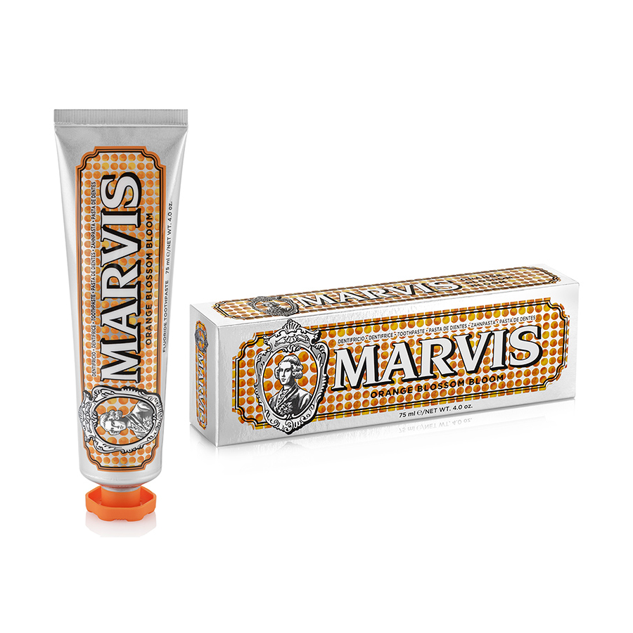 Orange Blossom bloom flavoured toothpaste from Marvis