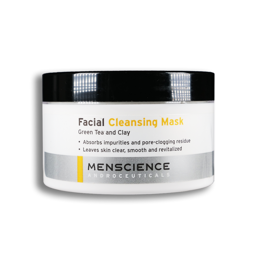facial cleansing mask for men with green tea and clay