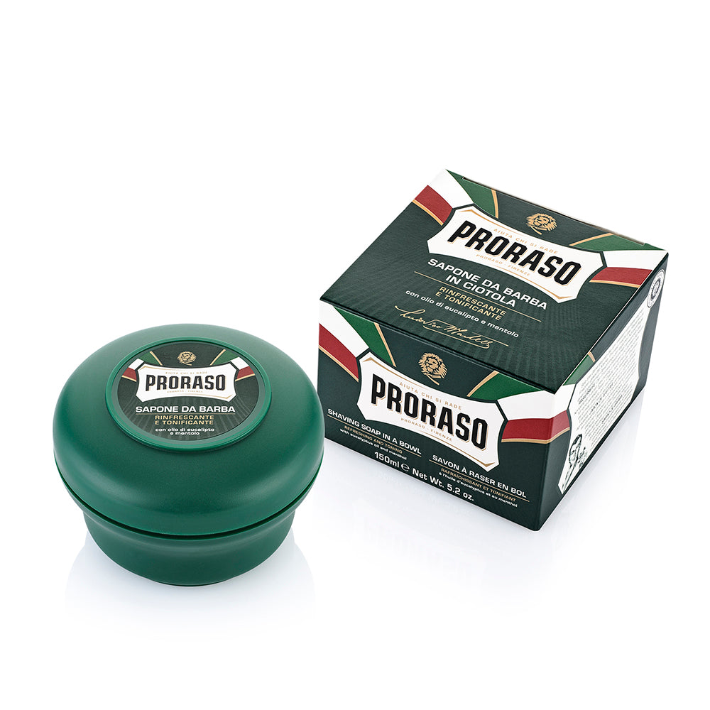 Eucalyptus shaving soap in a jar Proraso