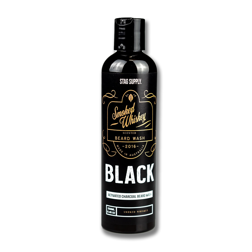 Stag Supply Beard Wash - Black Activated Charcoal - Smoked Whiskey