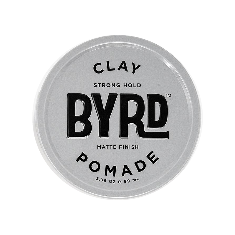 Clay pomade with strong hold and matte finish