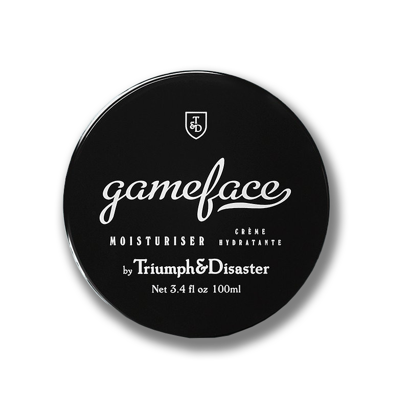 gameface moisturiser jar from triumph and disaster