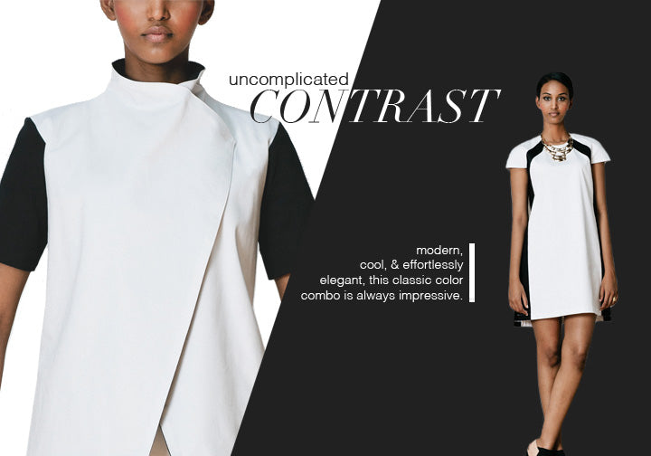 Erika Schrieber Spring Summer 2014 Made in American Contemporary Women's Clothing Collection Uncomplicated Contrast: The Black & White Trend