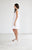 Deep V Neck Jersey Swing Dress - White