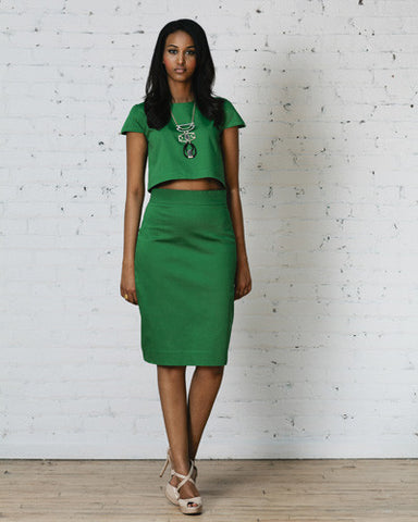 Perfect Fit Pencil Skirt - Emerald Green