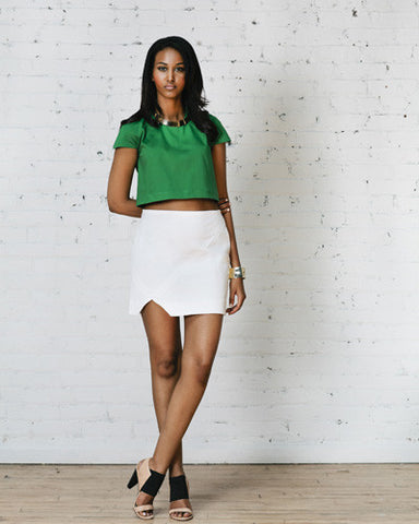 Leandra Patchwork Mini Skirt