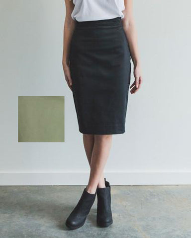 Perfect Fit Pencil Skirt - Army Green