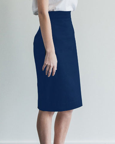 Perfect Fit Pencil Skirt - Navy