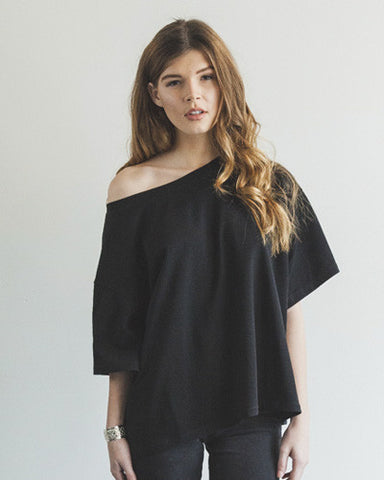 Oversized Slub Tee - Black