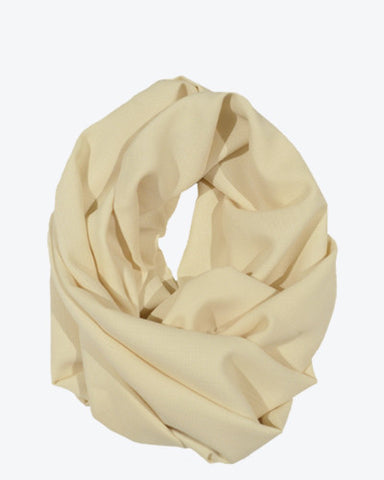 Wool Infinity Scarf - Cream