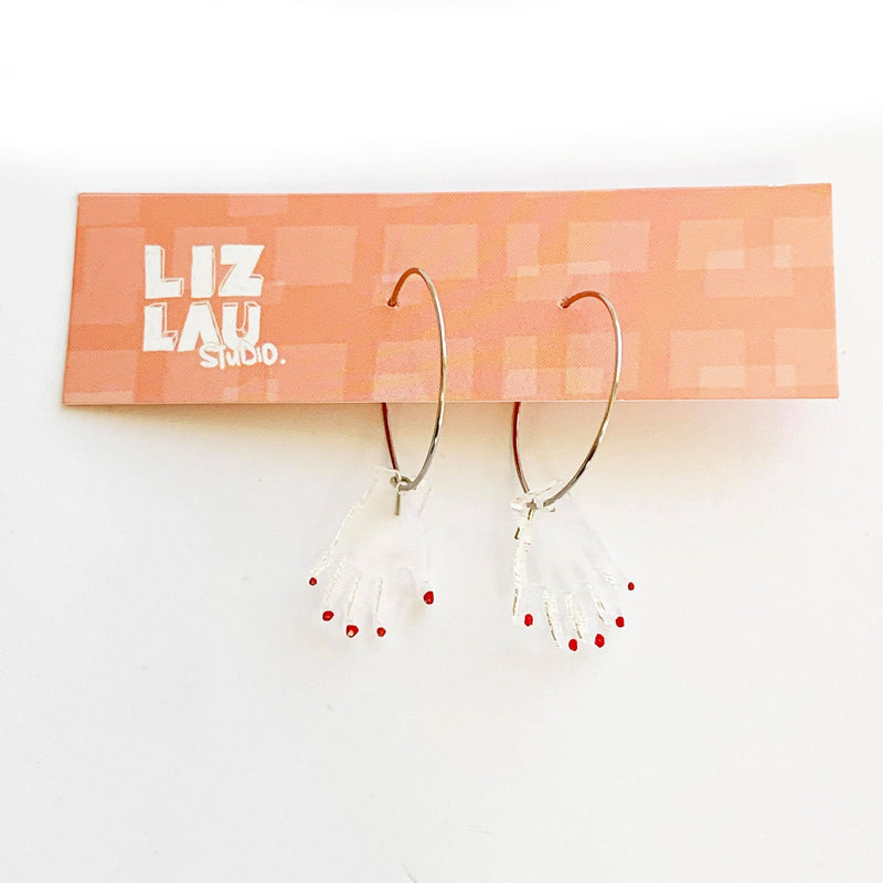 Liz Lau | Clear Hand Hoops