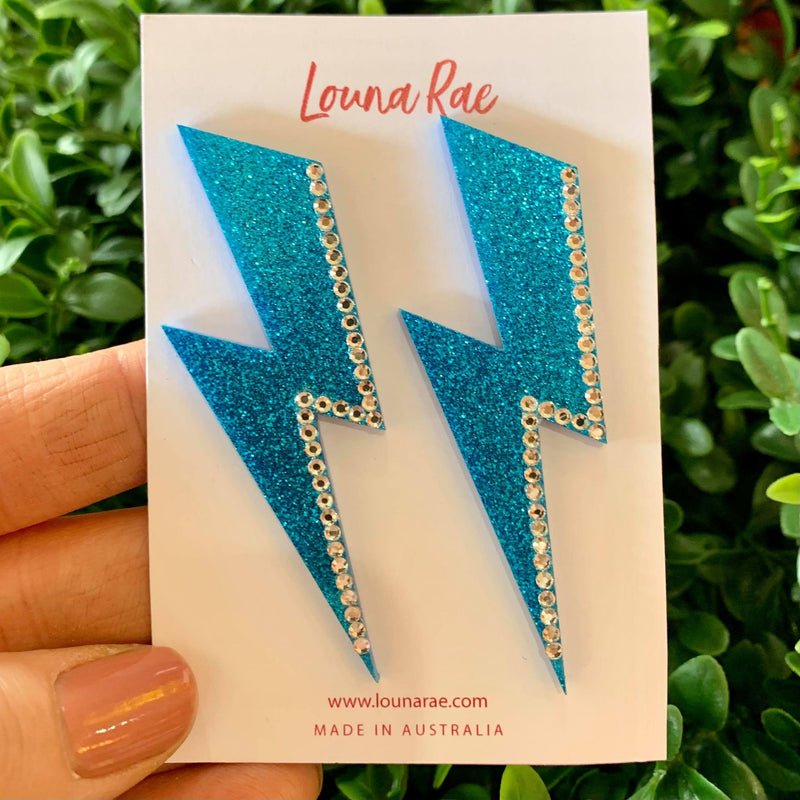 Louna Paula Stud Earrings | Lightening Bolt