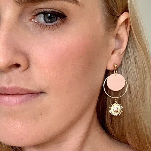 Peachy Sundaze | Nova's Earrings