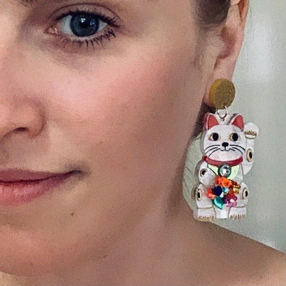 Louna Rae | Lucky Cat Earrings