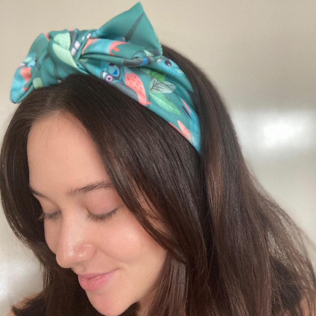 KarlaCola | Come Fly With Me Green Bow Headband