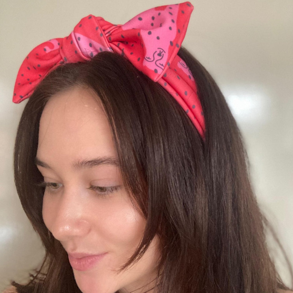 KarlaCola | I Spotted You Bow Headband - Red