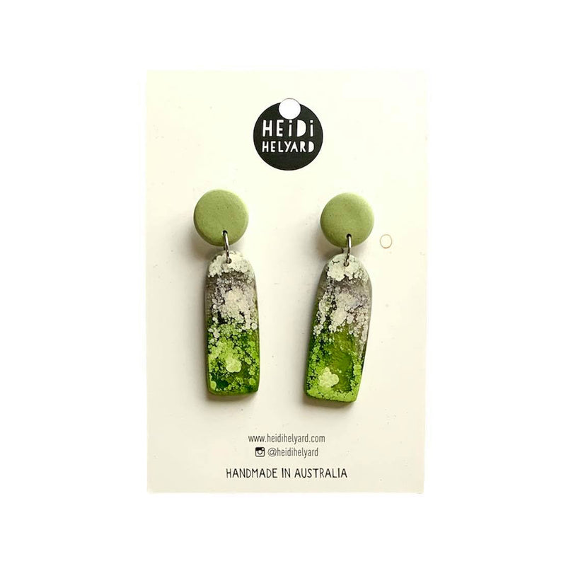 Heidi Helyard | green arch earrings