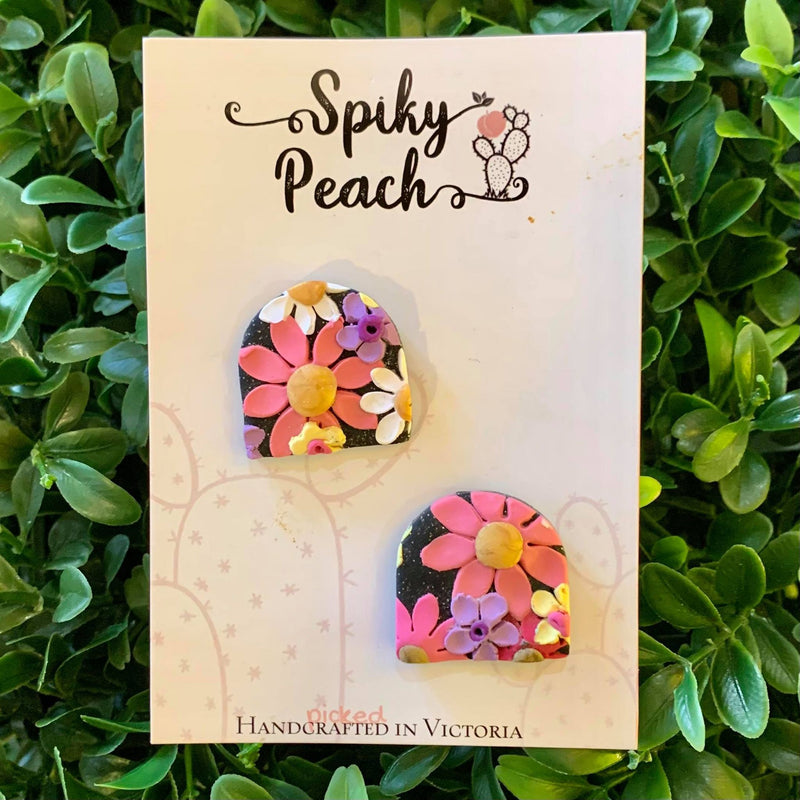 Spiky Peach | Flower Studs