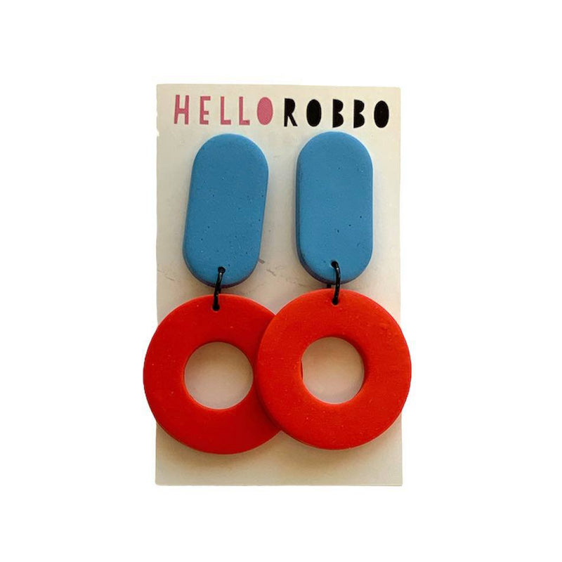 Hello Robbo | Colour Block Dangle