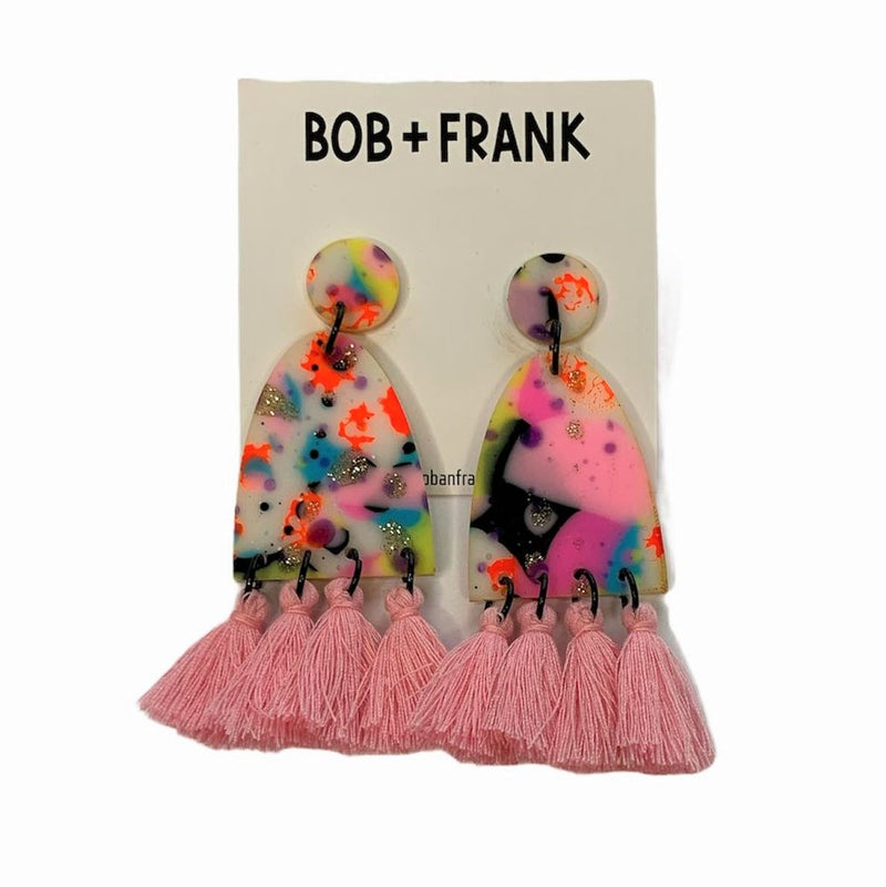 Bob & Frank | tassel statement earrings