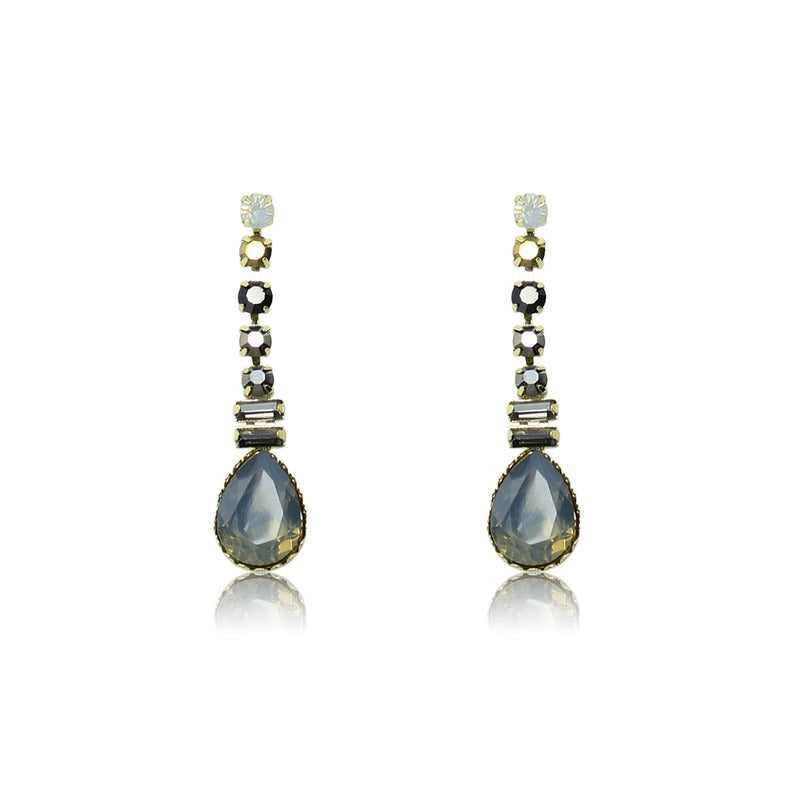 TID multi glass crystal earrings