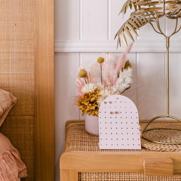Bon Maxie | Classic Mini Earring Holder - Peach