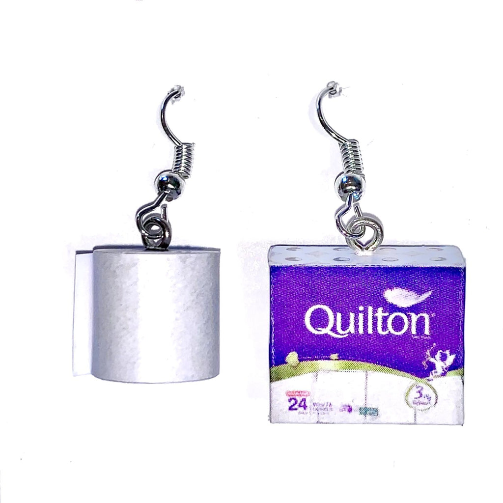 Cheeky Little Monkeys Quilton toilet paper drop earrings