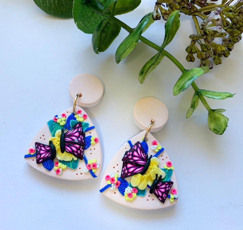 Gracefully Made | Tropical Vibes Medium Dangles