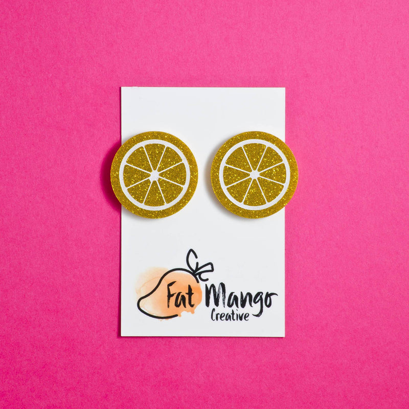 Fat Mango You're the zest studs - Lemon