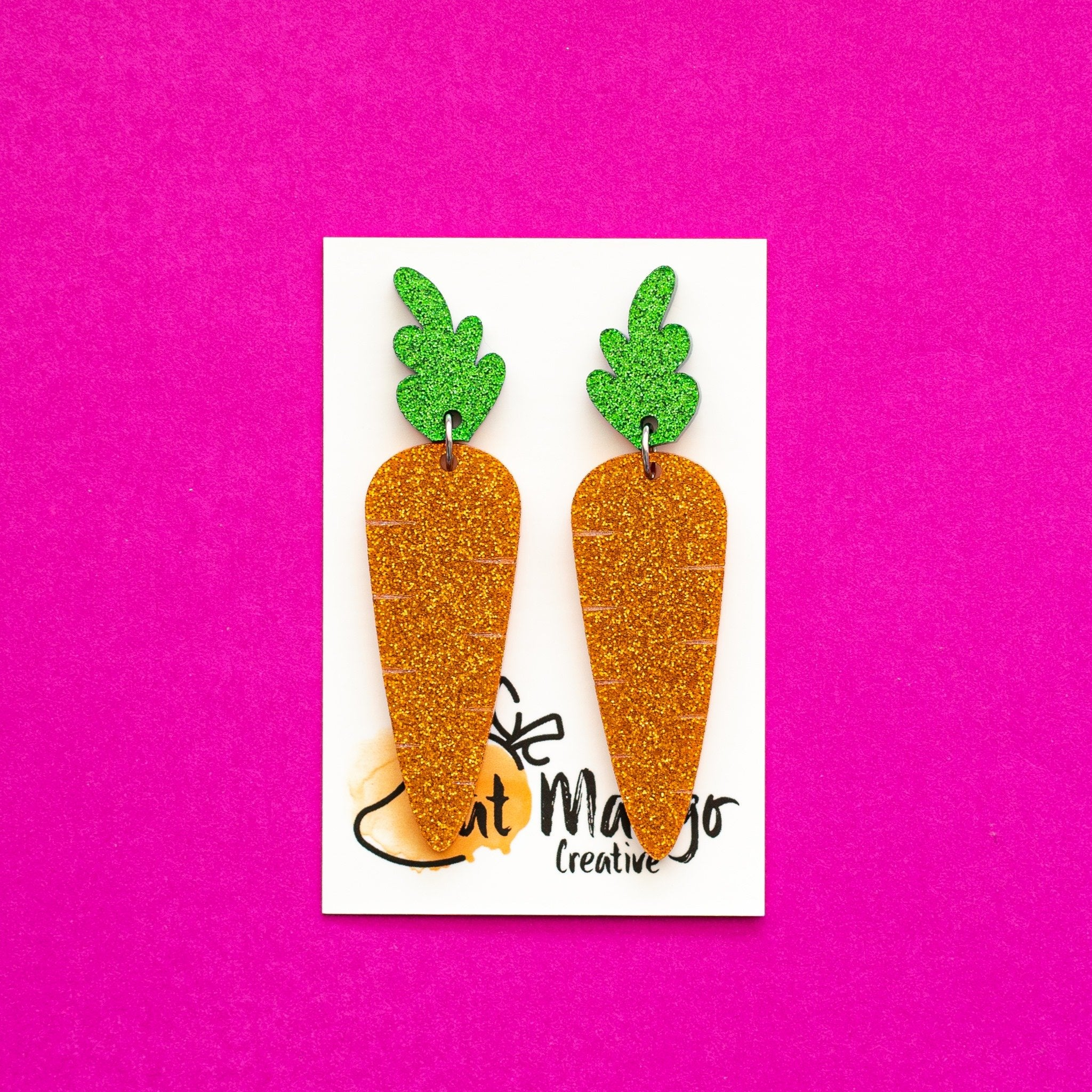 Fat Mango | Carrot Dangles Glitter