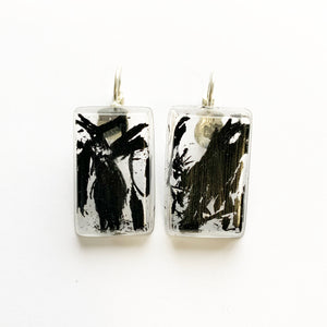 Burdekin Snow | Sugarcane Ash Rectangle Earrings