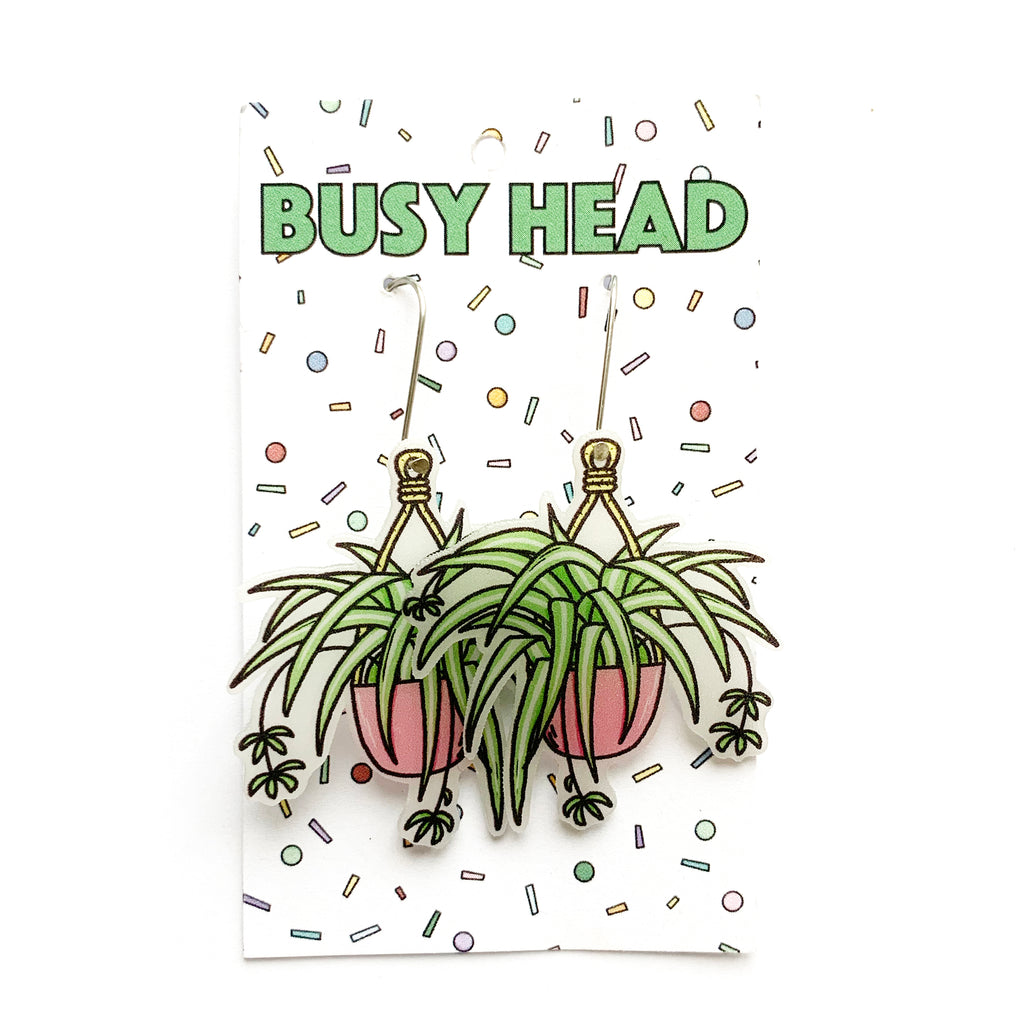 Busy Head Plant Earrings