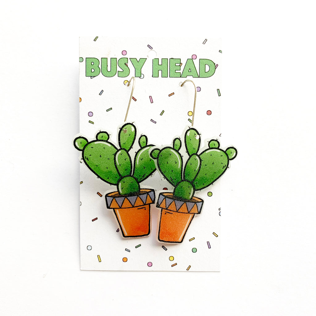 Busy Head Cactus Dangles