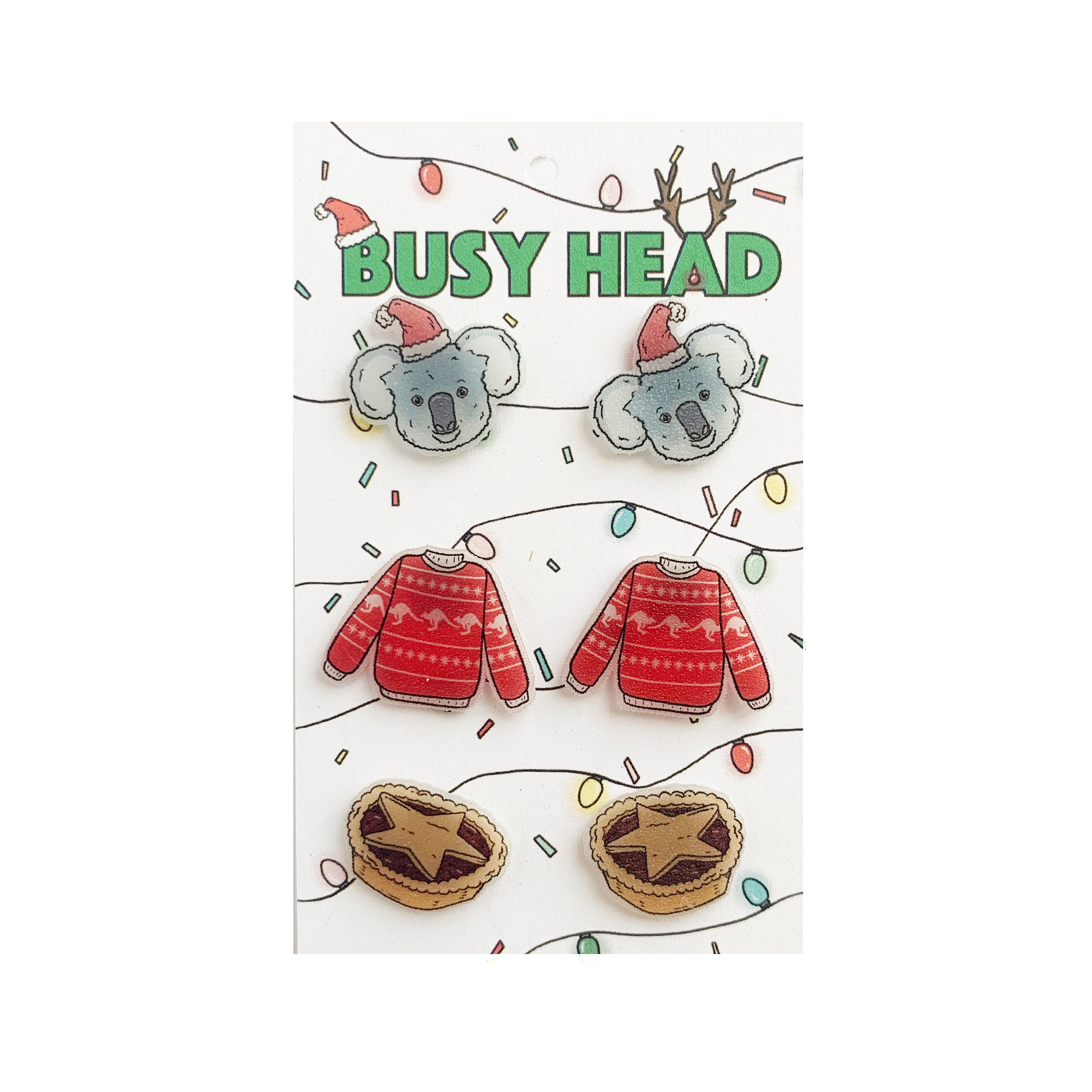Busy Head festive stud pack