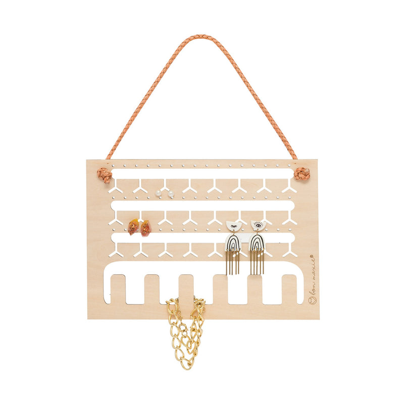 Bon Maxie | Earring and Necklace Wall Hanger - Natural