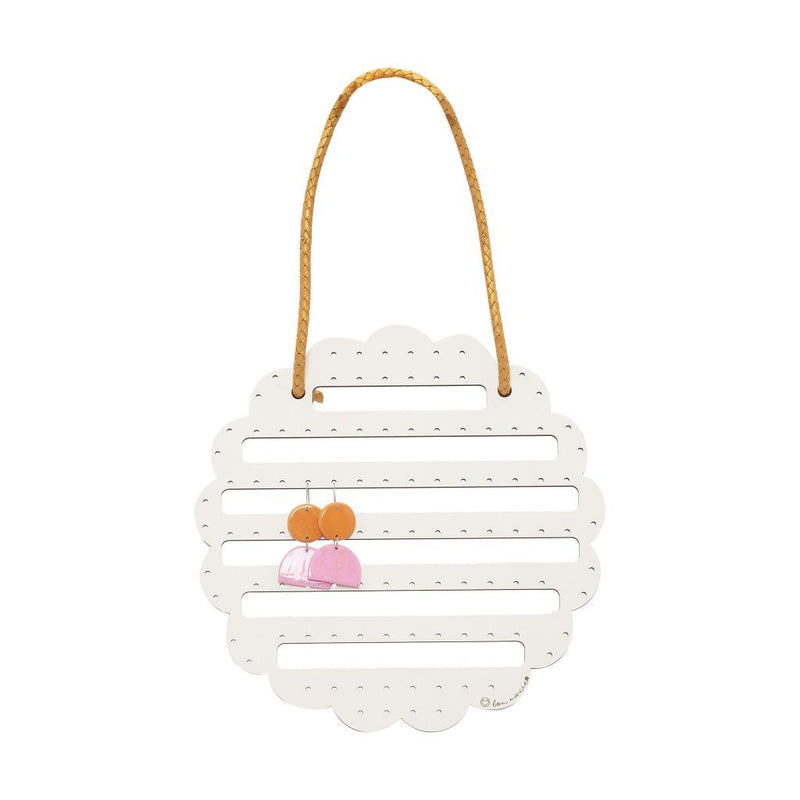 Bon Maxie | Flower Earring Holder - White