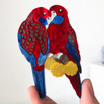 Eliza Rose | Crimson Rosella Brooch