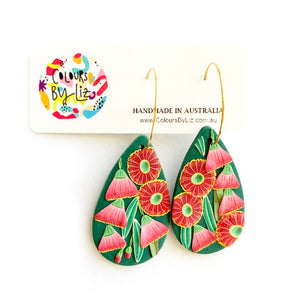 Colours By Liz | Eucalyptus Flower Hoops