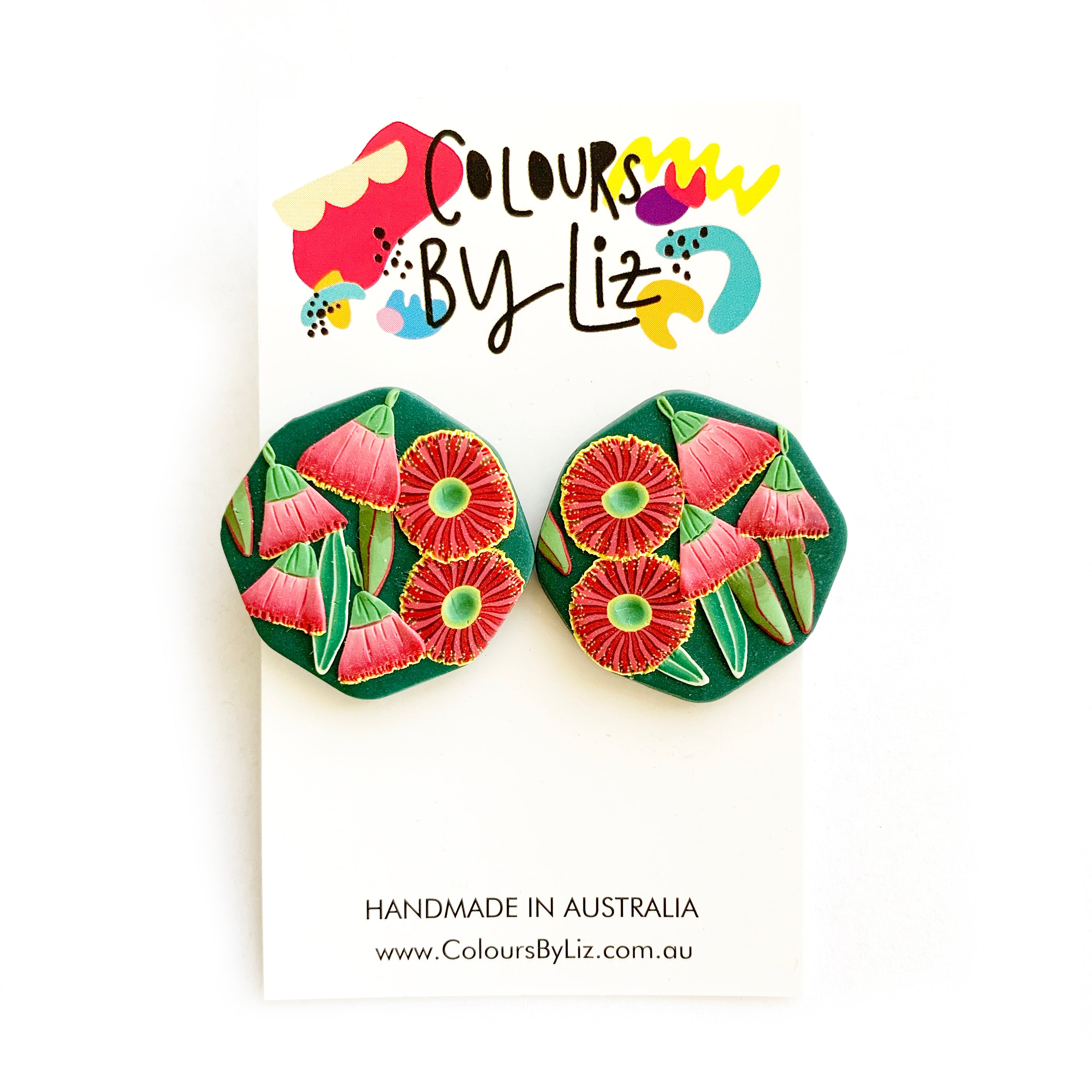 Colours By Liz | Eucalyptus Flower Studs