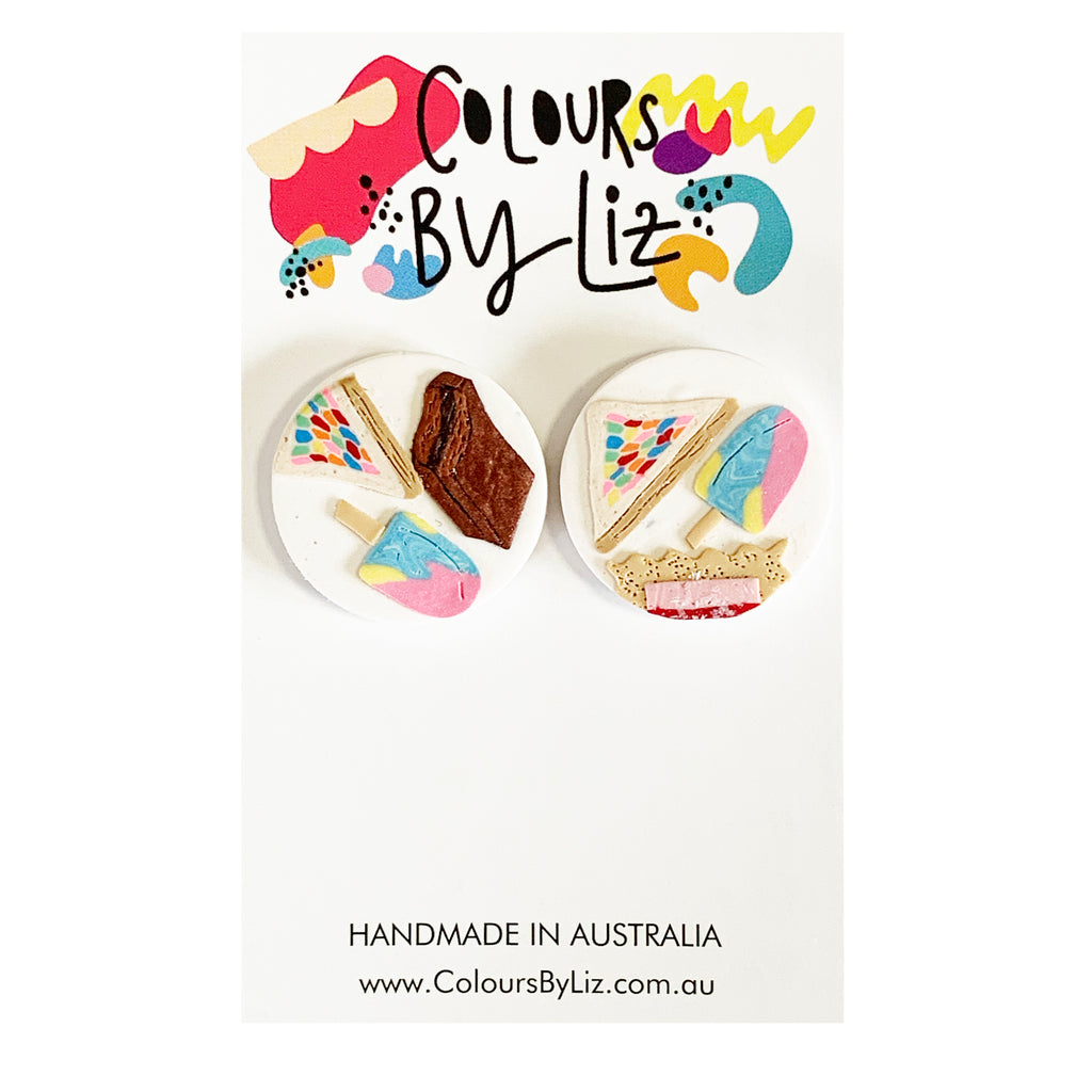Colours By Liz Aussie sweets Statement studs | Round